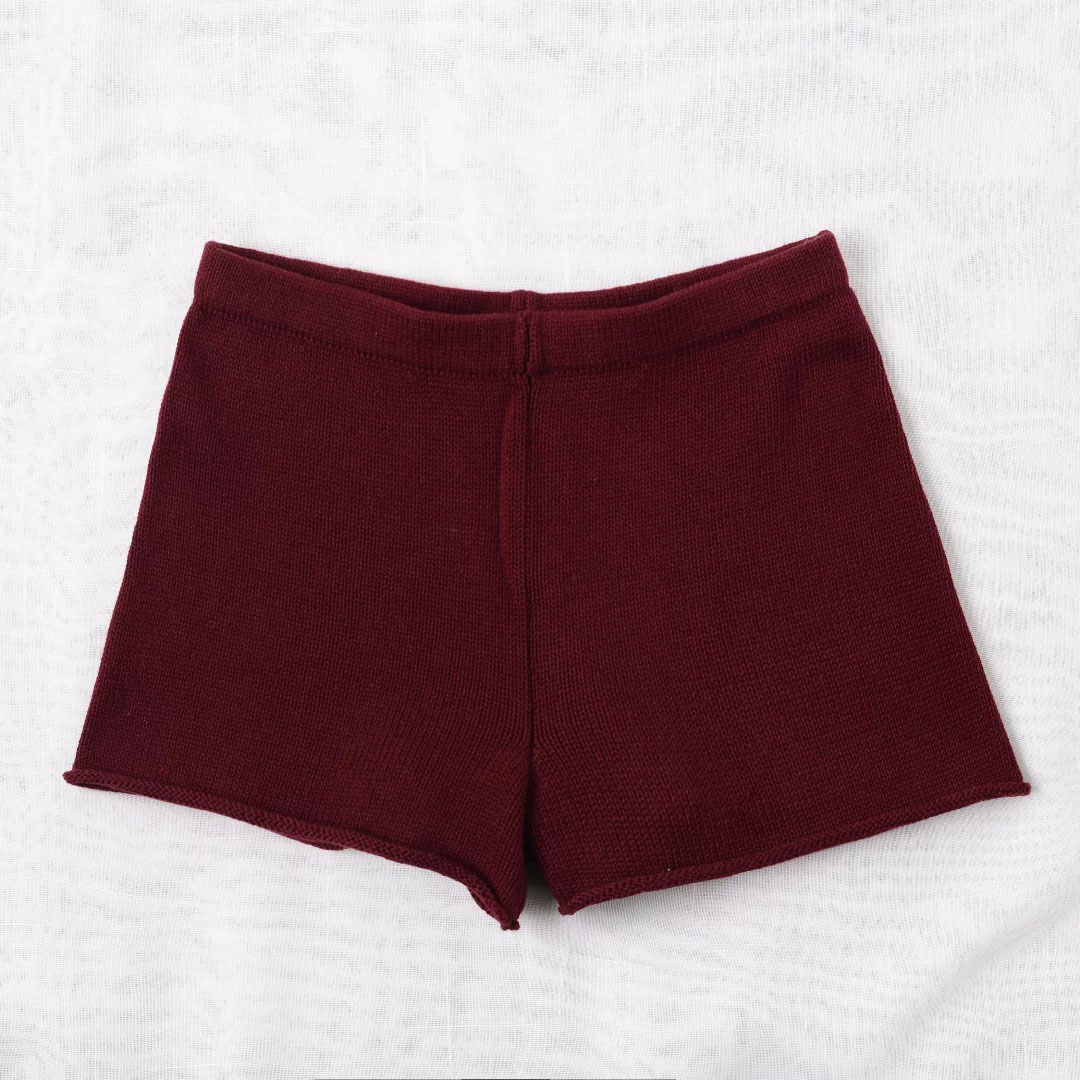 Aproms Summer Solid Color Knitted High Waist Shorts Women 17 Boho Cools Girls Streetwear Beach Elastic Shorts Female Bottoms 13