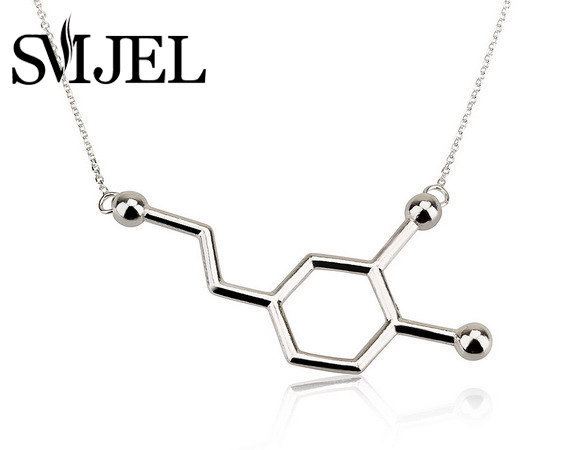 SMJEL Wholesale for Necklace Dopamine Molecule Necklace Chemistry Necklace Structure Necklace 30pcs N140