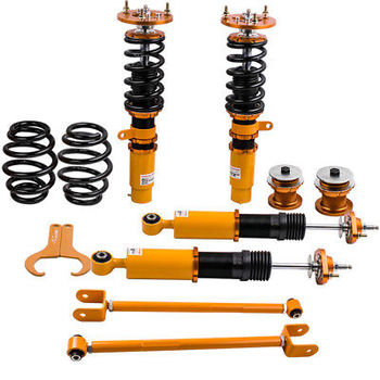 for BMW E46 M3 Coilover Suspension control arms kit for 328 320 M3  Shock Absorber with Rocker Control Arm Adjustable Damper
