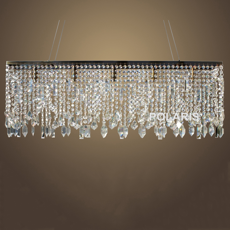 Free Shipping Modern Linear Chandelier Lighting Antique Brass Crystal Chandeliers Pendant Hanging Light Home Decoration