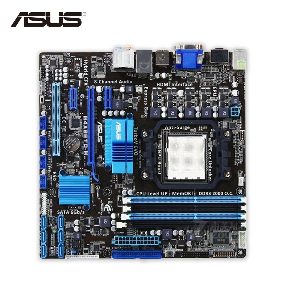 Asus M4A88TD-M Desktop Motherboard 880G Socket AM3 DDR3 SATA3 USB2.0 Micro ATX asus crosshair iv extreme desktop motherboard 890fx socket am3 ddr3 sata3 usb3 0 atx