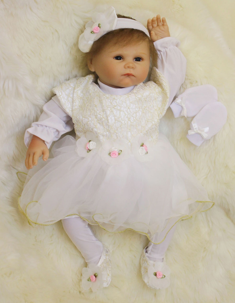 Pursue 55 cm New Blue Eyes Real Newborn Silicone Reborn Babies Princess Doll for Children Girl Adora Reborn Baby Dolls for Sale pursue blue eyes princess reborn 55cm silicone baby dolls adora doll for girls kids bebe reborn menina de silicone reborn babies