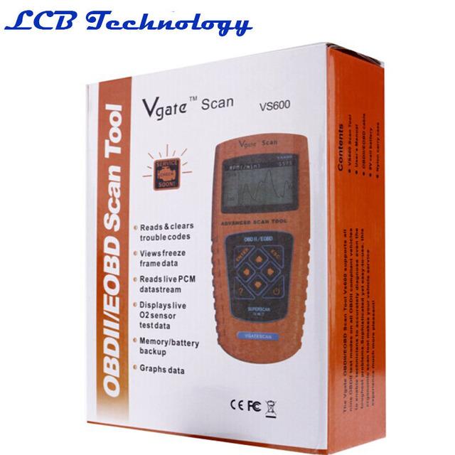 2016 Envío Gratis VS600 VgateScan Avanzada Automotriz OBD II OBD2 Código Diagnose Escáner Lector De Motor ABS SRS DSC