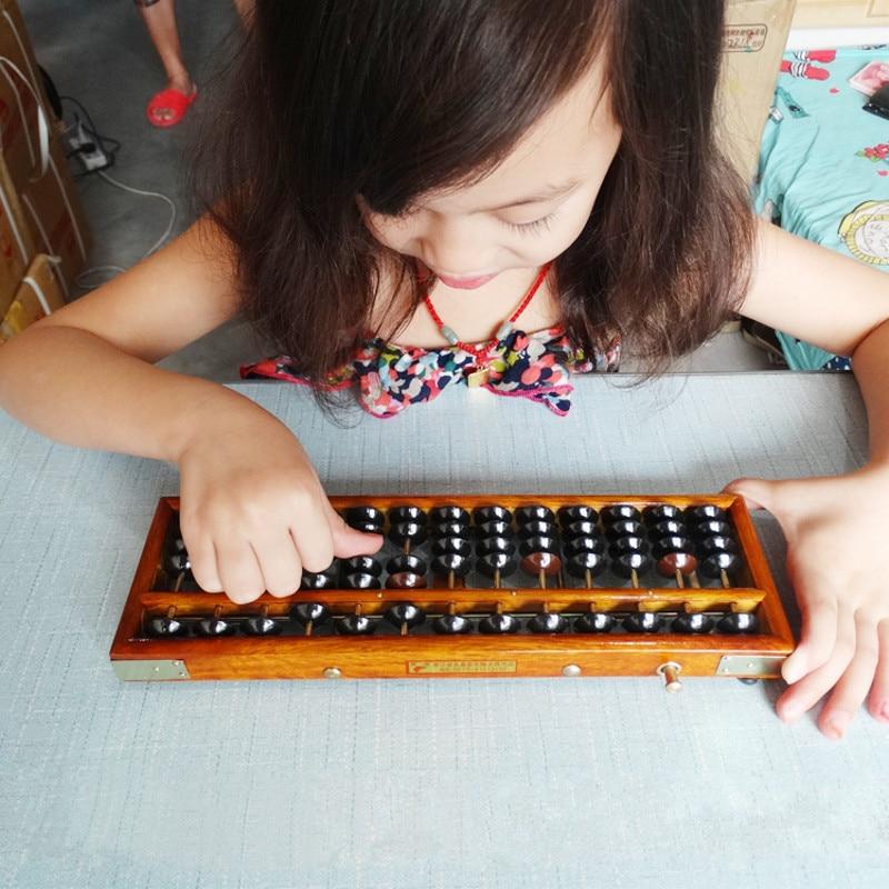 Лидер продаж Деревянный Рамка классический древний калькулятор Abacus soroban пластмасс игрушки из бисера развивать малыша Математика счеты разведки