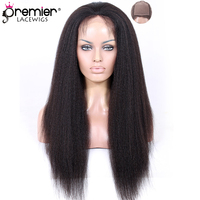 PREMIER LACE WIGS Silk Top Full Lace Wigs Brazilian Virgin Hair Kinky Straight [SFLW B KS]