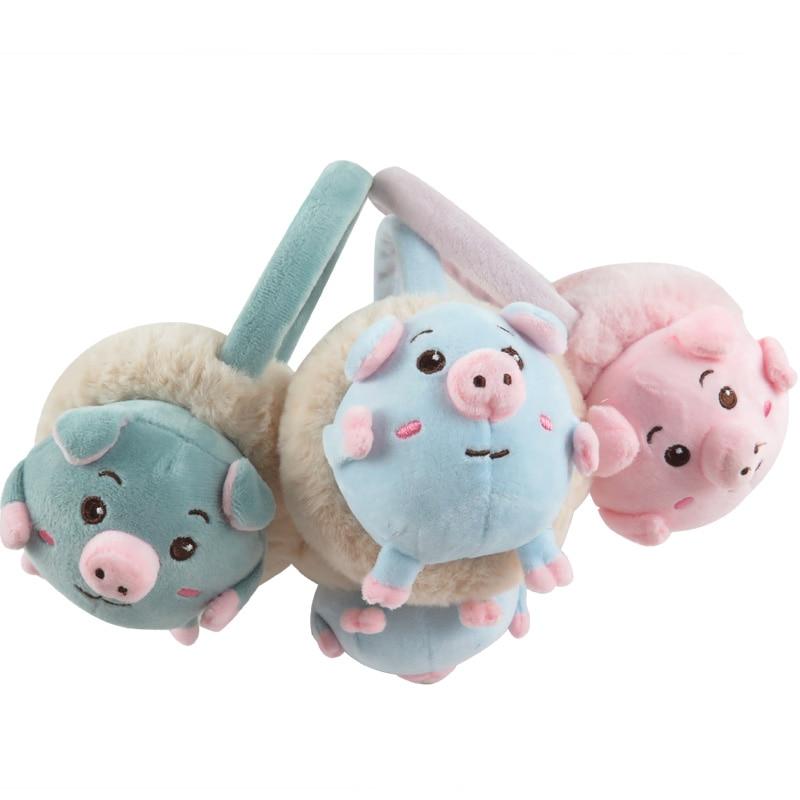 Cartoon Pig Winter Children Earmuffs Cute Animals Earmuffs Boys Girls Keep Ears Warm Earmuffs For Kids AD0705