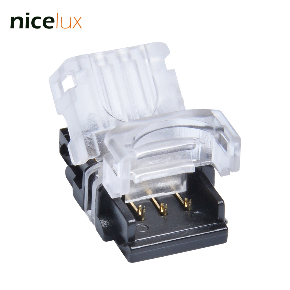 5pcs Connector for 3 Pin 10mm IP65 WS2812 Waterproof LED Pixel Strip Digital Light to Wire Connection WS2812B Connector 10pcs 5 pin led strip wire connector for 12mm 5050 rgbw rgby ip20 non waterproof led strip to wire connection terminals