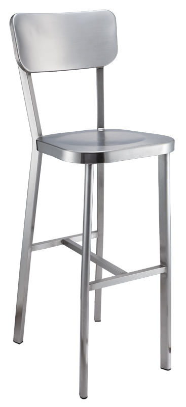 Quality Full Stainless Steel High Bar Chair Hotel Bar Chair