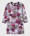 WHOSEBABY  Flower Print Dresses Girls Cotton Winter Autumn Long Sleeve Party Vestido Infantil Kids Princess Wedding Costume