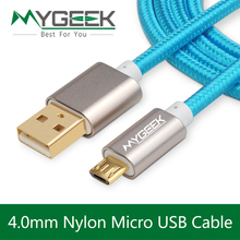 Nylon Android Micro Cable de datos USB for Samsung galaxy nota S3 S4 xiaomi HTC Sony 2 m de carga rápida carga del USB del teléfono Cable(China (Mainland))
