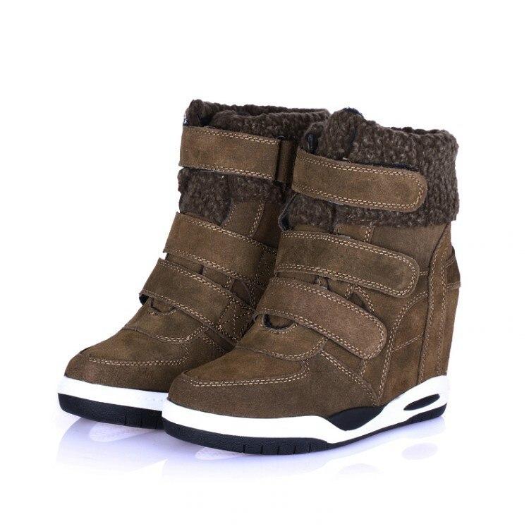 Здесь продается  Women Autumn Winter Genuine Leather  Height Increase Elevator Fashion Casual Comfortable Ankle Snow Boots Size 35-39 SXQ0818  Обувь