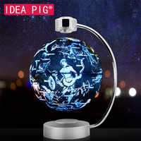 88 Constellations Magnetic Levitation Geography Globe 8 Inch  Floating World Map with LED Light Home Decoration Accessories