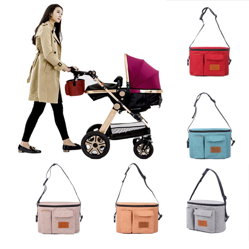 Diaper Bag Baby Stroller Organizer Hanging Nappy Bag Large Capacity Travel Mom Backpack Pram Buggy Cart Waterproof Maternity Bag