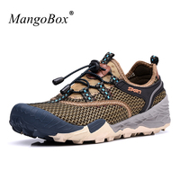 2018 Sumemr Male Hiking Sneakers Breathable Climbing Outdoor Shoes Mens Band Comfortable Walking Shoes Men Brown