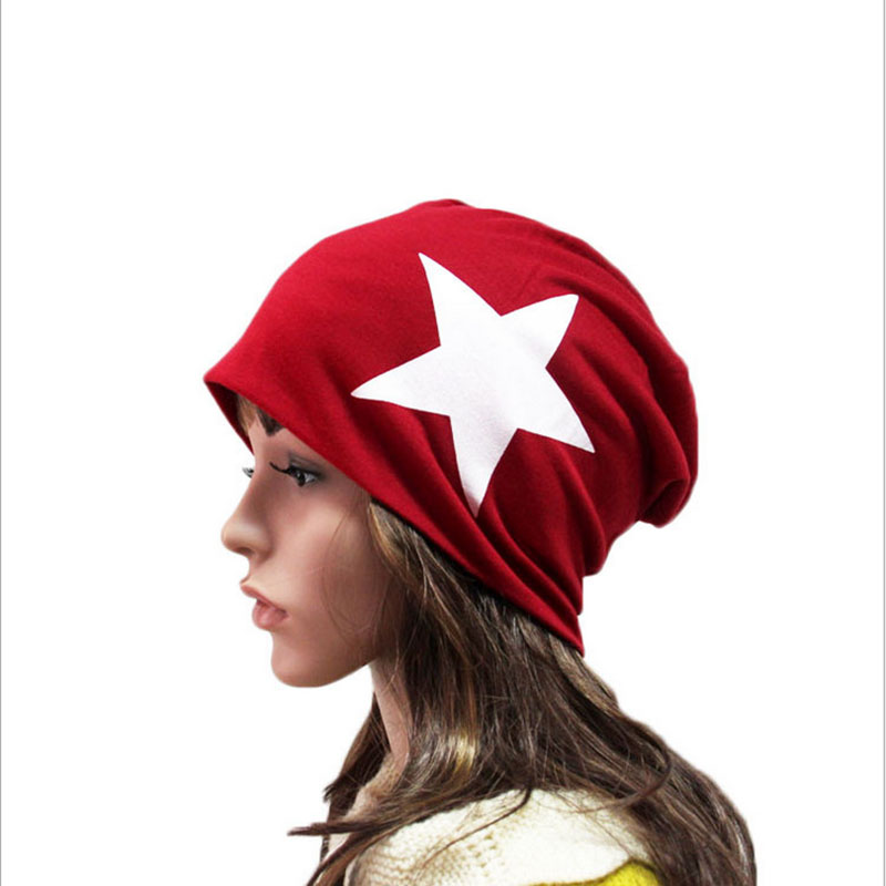 SUOGRY Brand Autumn And Winter Hats For Women Big Star Design Ladies thin hat Skullies And Beanies Men Hat Unisex