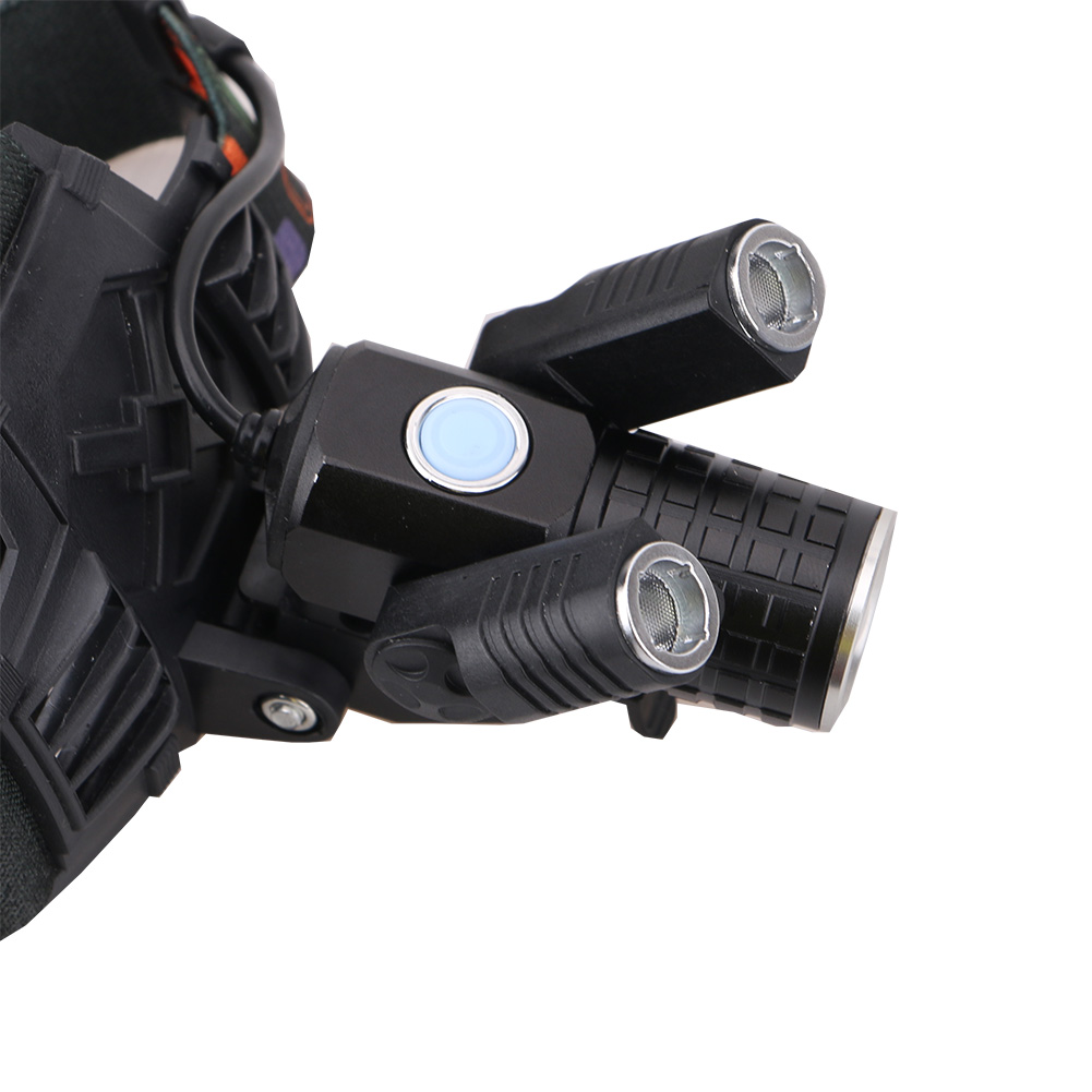 6000LM 4 Modes Rechargeable T6 Headlight Headlamp Zoomable T6 LED with rotation 360 degree 2 R2