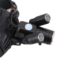 6000LM 4-Modes Rechargeable T6 Headlight Headlamp Zoomable T6 LED with rotation 360 degree 2*R2 LED Head Light Lamp Head Lantern