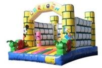 Meilleure qualité château gonflable maison de rebond avec toboggan pour enfants. jouets gonflables pour enfants, jouets gonflables de saut, parcours du combattant