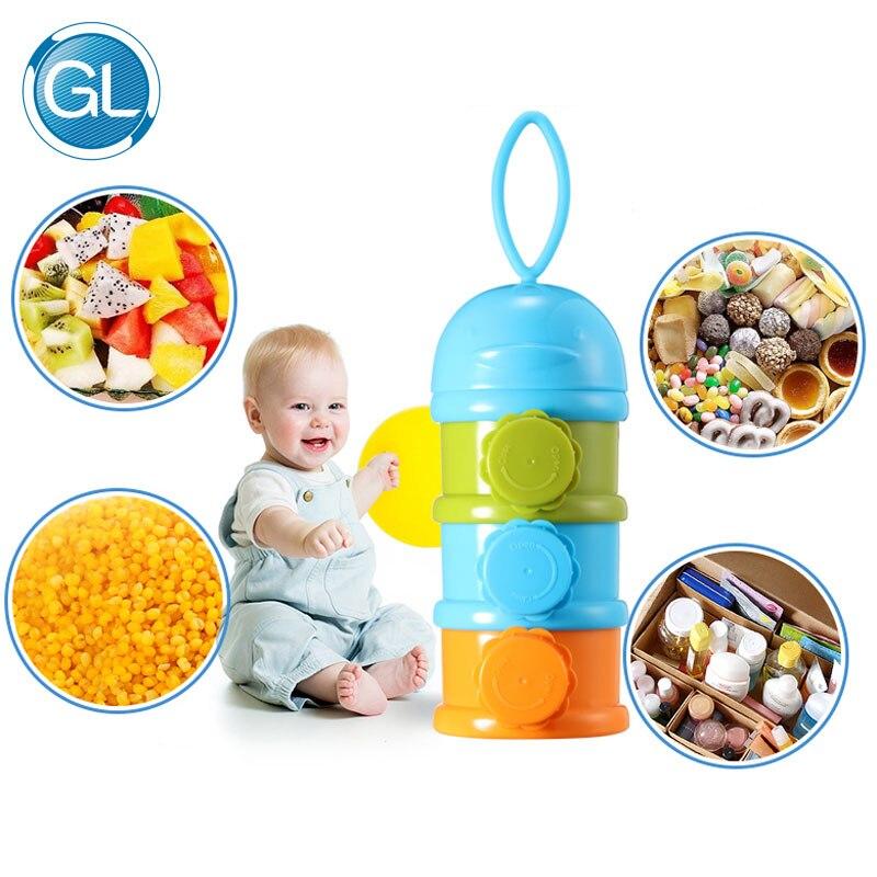 GL 3 laag baby melkpoeder opslagcontainer draagbare bpa-vrij voedsel - Voeden