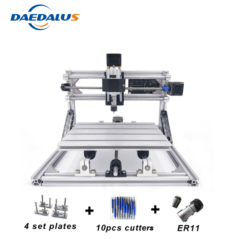 CNC 2418 Machine Mini DIY Engraving Machine PCB Milling Wood Carving Laser Machine With ER11 Router