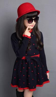 4-12 Y Girls Clothes 2018 Spring Autumn Korean Children's long-sleeved Dress Casual Girls Dresses Winter Princess Clothing