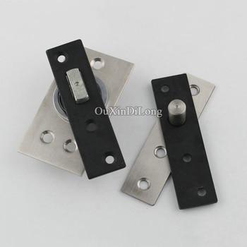 Caliente 2 piezas de acero inoxidable de alta resistencia pivote bisagras de puerta 360 grados arriba y abajo bisagras rotativas puerta de madera oculta bisagras
