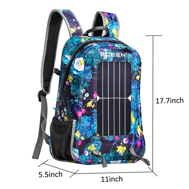 Waterproof 17L 7W Travel Solar Backpack  1