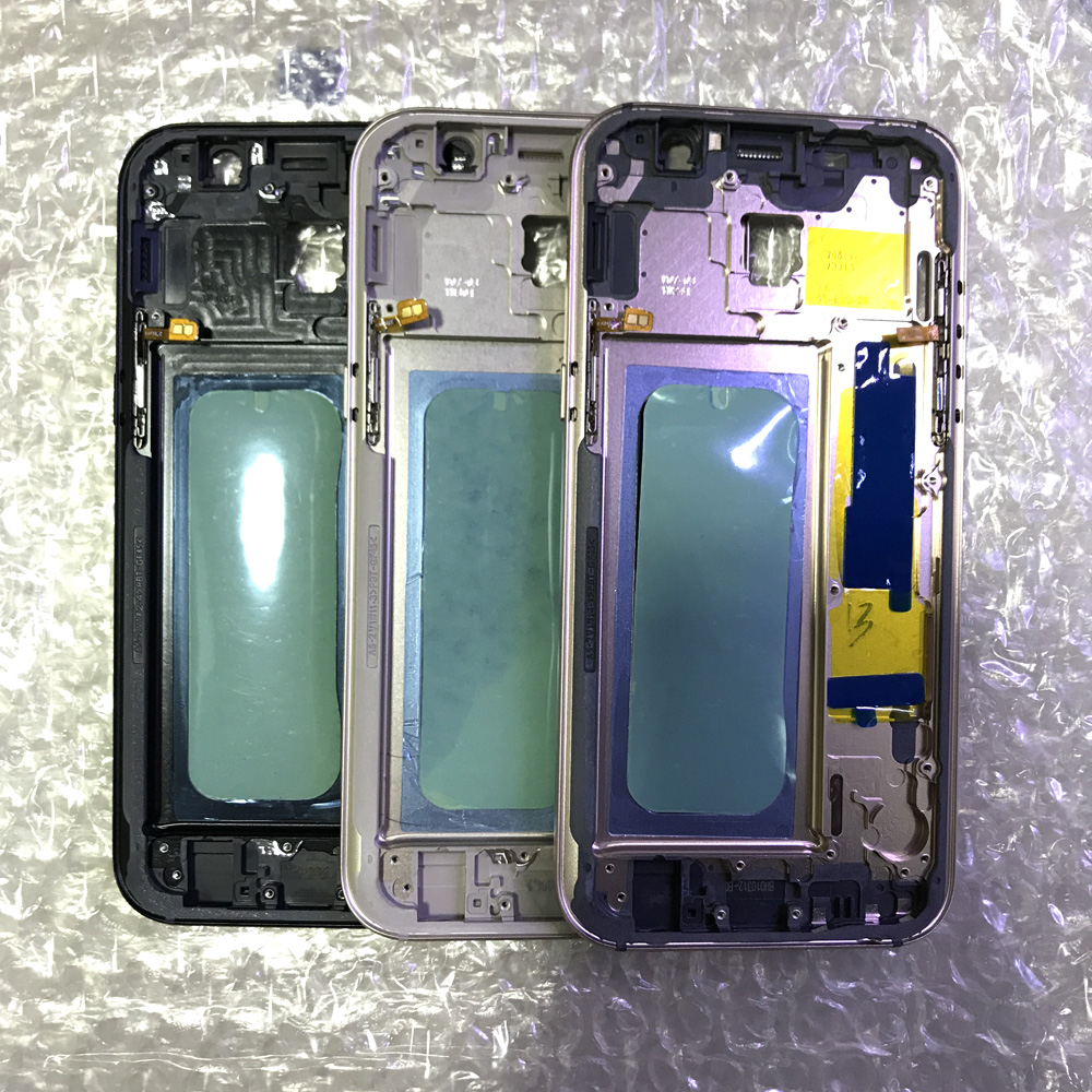 For <font><b>Samsung</b></font> Galaxy <font><b>A5</b></font> 2017 A7 2017 <font><b>A520</b></font> A720 Middle Chassis Mid Housing Frame Bezel Cover with Power On off Side Button image