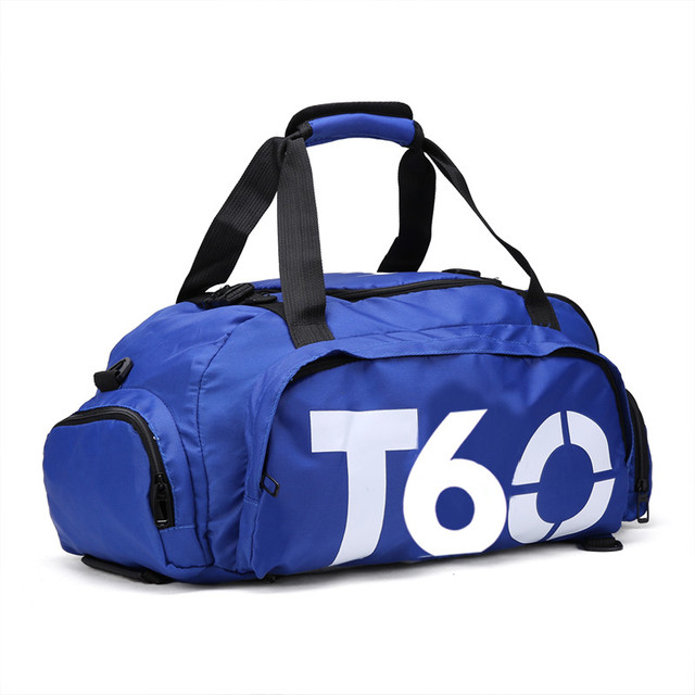 f8715cb264 Gym Bags T60 Waterproof Outdoor Women Men luggage travel Bag  Backpack  Multifunctional t90 Letters Sport Bagbolsa impermeable