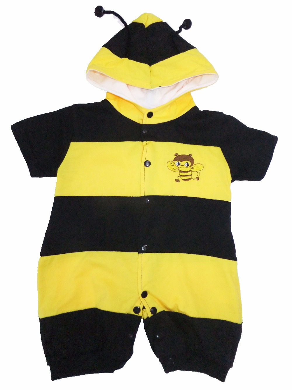 wholesale-retail newest cotton clothing Baby crawl clothing super,kid climb clothing Role-playing bees SZ-S-XL