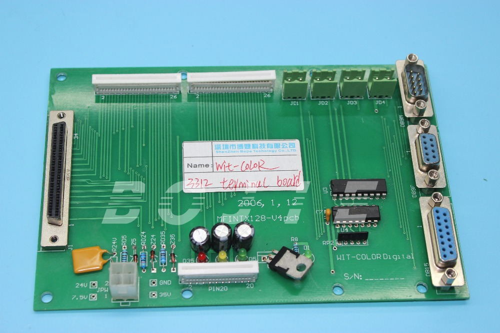 Wit color 3312 printer parts terminal pcb board