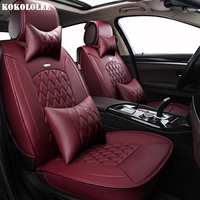 KOKOLOLEE Pu Leather Car Seat Covers For Great Wall Hover H3 H6 H5 M42 Tengyi C30