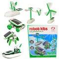 6 Стиль Новинка Солнечной Энергии Powered Энергии Робот Игрушки для Детей Образовательных Классические Игрушки для Детей DIY Гаджет Игрушки Летию Со Дня Рождения Подарки