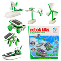 6 Style Novelty Solar Energy Powered Power Robot Toys Kids Educational Classic Toys for Children DIY Gadget Toys Brithday Gifts
