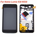 For Nokia Lumia 530 N530 lcd display touch screen digitizer glass assembly + Bezel Frame + Tools black replacement
