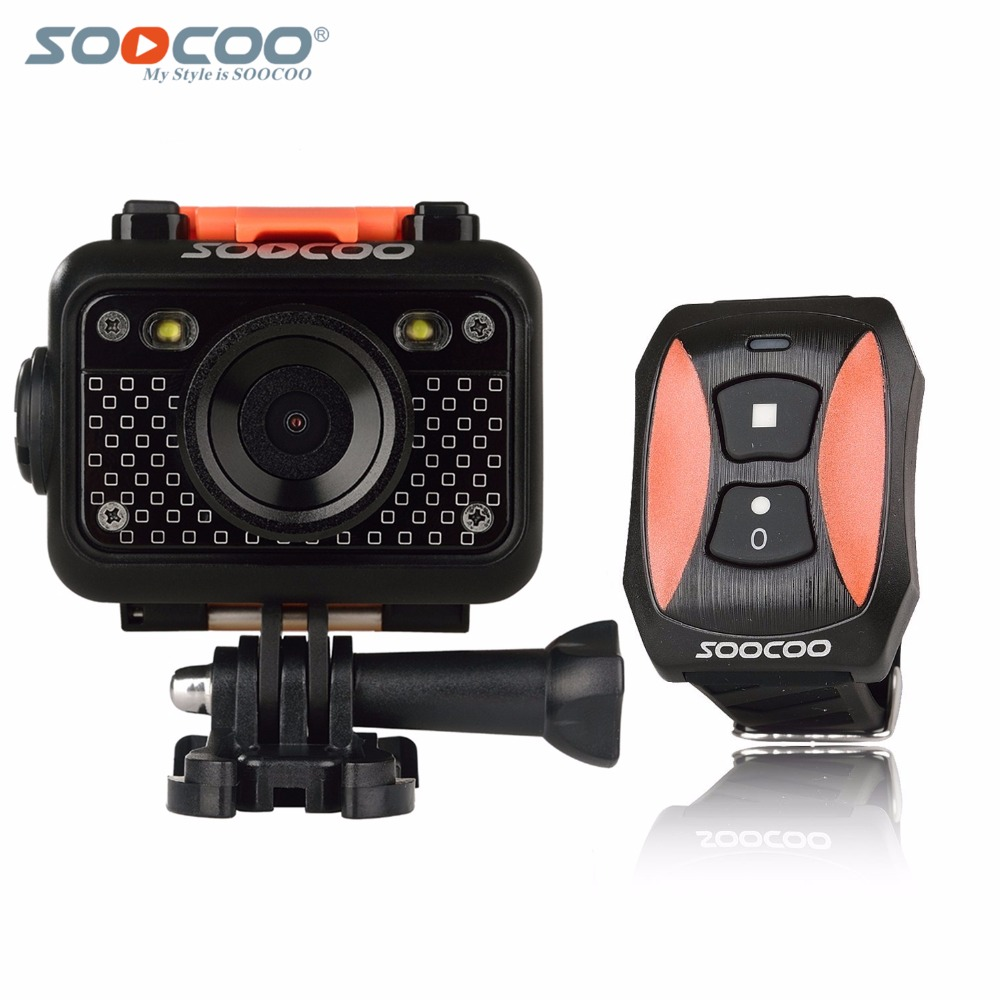 Original SOOCOO S60 Anti-Shock Sports Action Camera, 30M Waterproof Wifi 1080P Full HD 170 Degree Lens Wireless SOS flash signal soocoo c30 sports action camera wifi 4k gyro 2 0 lcd ntk96660 30m waterproof adjustable viewing angles