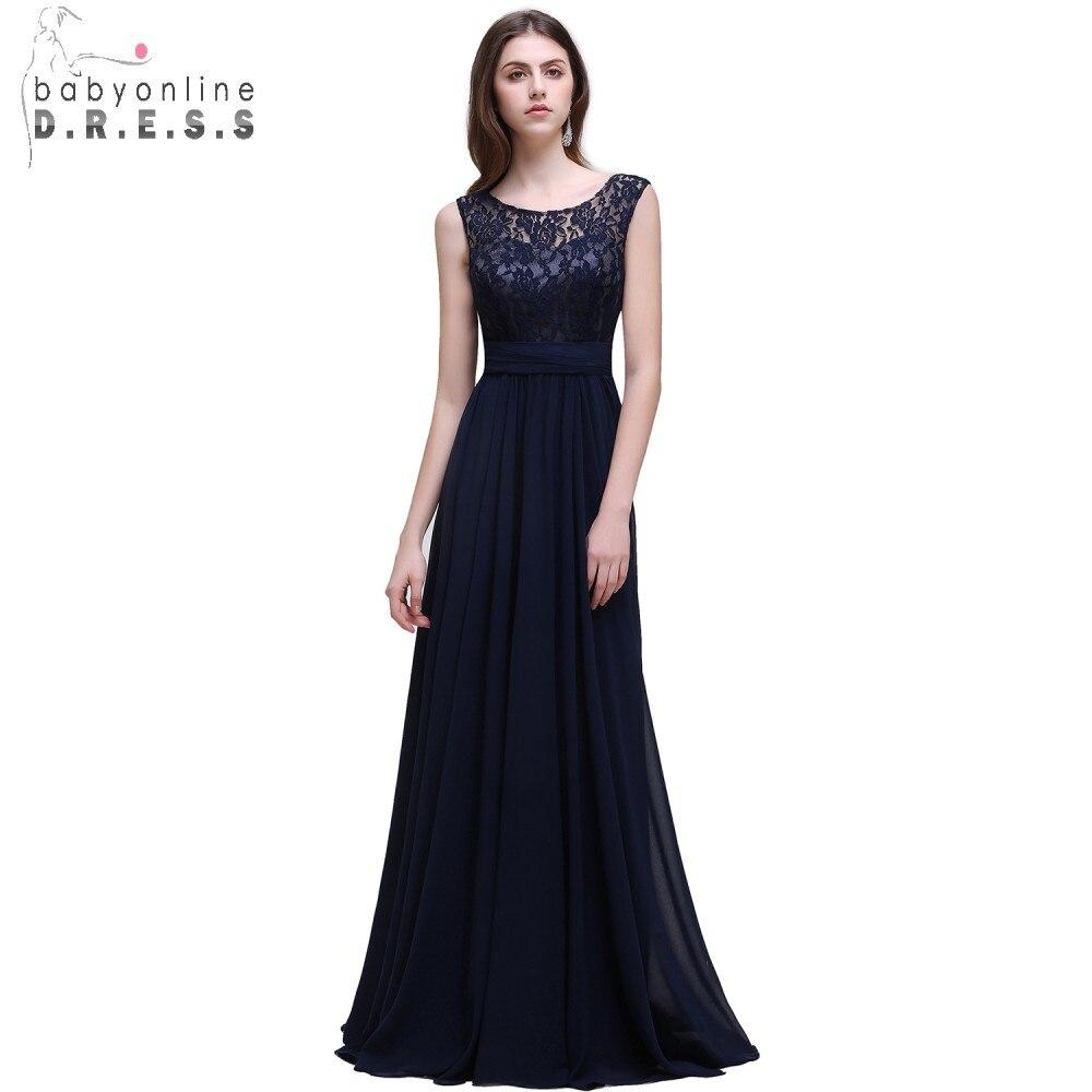 Реальна фотографія Navy Blue Bridesmaid Dress Long - Весільні вечірні сукні