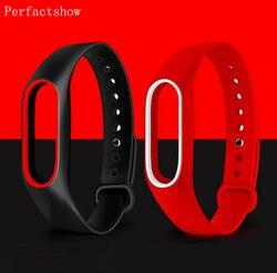 Mi Band 2 pulsera de silicona con correa para la muñeca de doble Color correa de repuesto para Xiaomi Original mi band 2 cinturón pulsera de goma