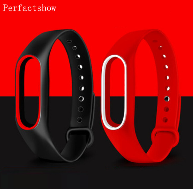 Mi Band 2 Силиконовый браслет двойной цвет замена ремешок для оригинальный Xiaomi mi ремешок 2 ремешок для браслета Резина