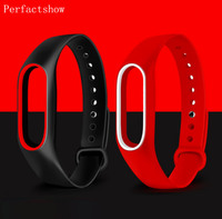 Mi Band 2 Silikon Handgelenk Strap Armband Doppel Farbe Ersatz armband für Original Xiao mi mi band 2 Armbänder gürtel gummi