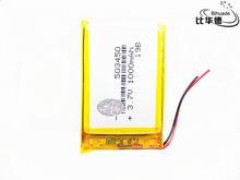 Bateria recarregável 1000 v 3.7 503450 do lipo do li-íon da bateria 053450 mah do lítio do polímero para a câmera esperta da lâmpada do diodo emissor de luz do telefone dvd mp3 mp4