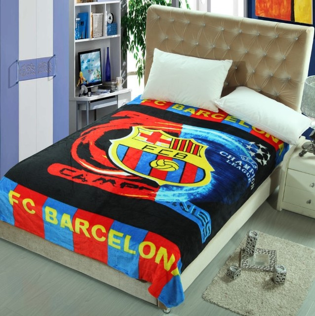 Football Blanket Soccer Team Blankets Plush Fleece Blanket Throw On Fascinating Team Throw Blankets