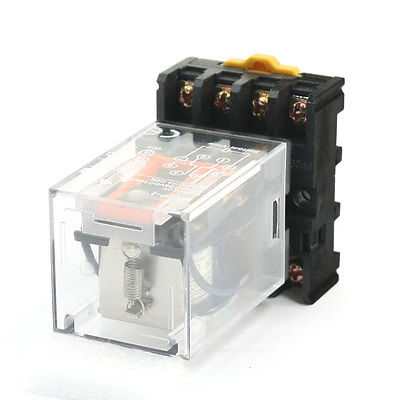 Подробнее о Industrial DC 24V Coil DPDT 8 Round Pin Power Relay w 35mm DIN Rail Socket  Free Shipping free shipping dc 12v coils dp2t 8 terminals motor control electromagnetic power relay w socket
