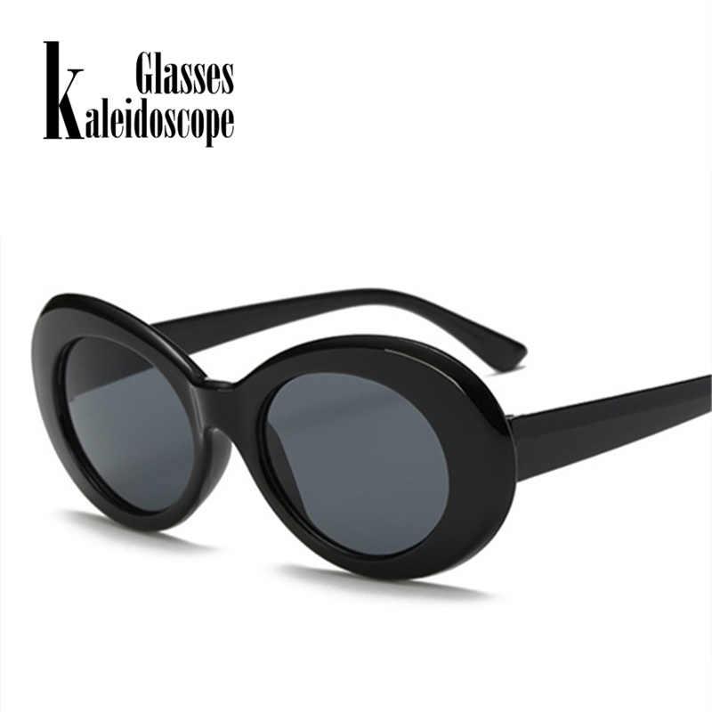 c28b7f8d17 ... Clout Goggles Sunglasses Men NIRVANA Kurt Cobain Glasses Women Retro  Neff Small Oval Round Tint Alien ...