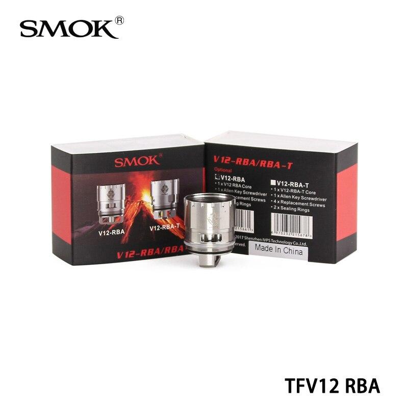 bilder für 5 stücke 100% original smok tfv12 rba v12-rba tfv12 spulenkopf mit dual coil deck für tfv12 zerstäuber tank