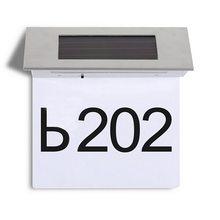 4 LED Solar lampa drzwi numer domu adres znak tabliczka na drzwiach dom na świeżym powietrzu wskazując światła dekoracyjne płytki nazębnej drzwi