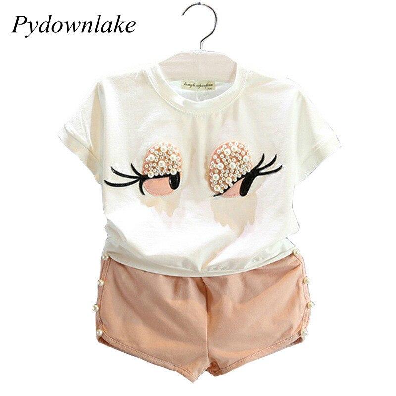 Pydownlake Girls Klädsel Set Pearl Girls Kläder Set Lovely Långa - Barnkläder