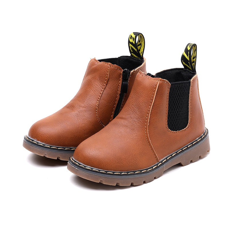 Top Selling Children's Boots 2017 Autumn Winter New Boys Gentleman Zipper Fashion Boots Girls Non-slip Warm Snow Boots