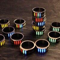 1PC 16 18 20 22mm Titanium Luminous Ring With 4 Tritium Tube Self luminous Emergency Light Creative Gift Outdoor Survival Tool|Outdoor Tools| |  -