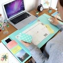 Корея Горячая кавайный конфетный цвет офисный коврик Многофункциональный еженедельник Органайзер стол для хранения памятки коврик для обучения